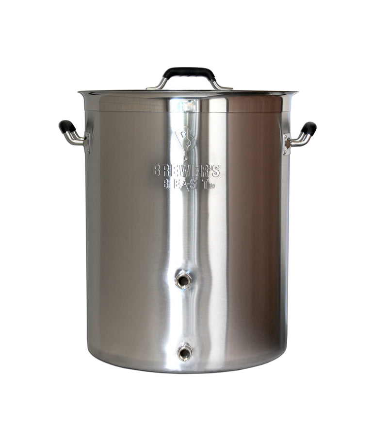 8 Gallon Brewer's Beast Brewing Kettle with Two Ports