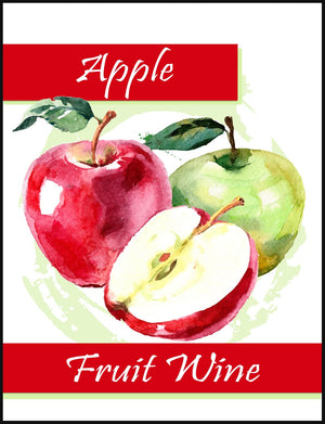 Apple Fruit Wine Labels - 30/Pack