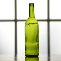 Champagne Green Bordeaux Flat Bottom Bottles (750 mL) - Single