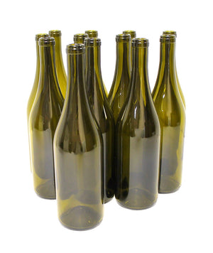 Antique Green Punted 750ml Burgundy Bottles 12/case