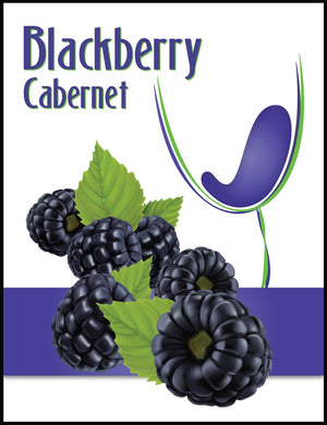 Blackberry Cabernet Wine Labels - 30/Pack