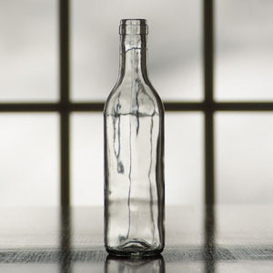 Clear Semi-Bordeaux Mid-Punt Bottles (375 mL) - Single