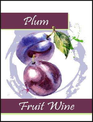 Plum Fruit Wine Labels - 30/Pack