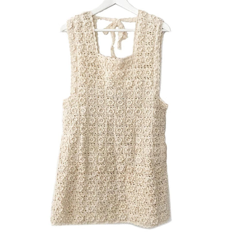 GRACE Cashmere Crochet Dress (Handmade)