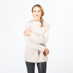 SONYA Chevron Mock Neck Pullover