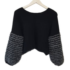 MEGGIE Cropped Cashmere Boxy Pullover (Handmade)