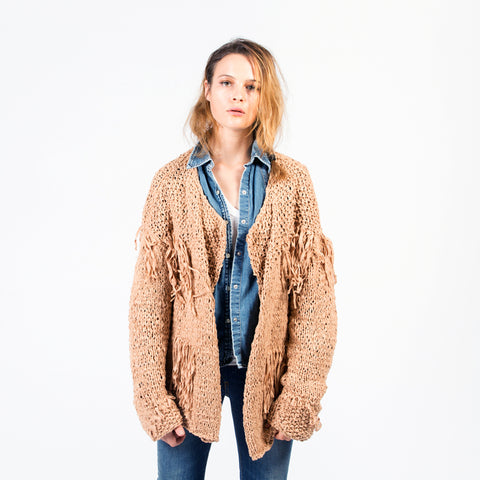 LEAH Cotton Fringe Jacket Cardigan (Handmade)