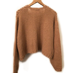 JOANNA Cropped Cashmere Sweater (Handmade)