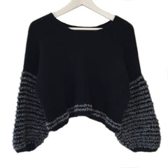 TASHA Cropped Cashmere Boxy Pullover (Handmade)