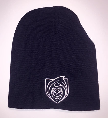 RISK365 APPAREL Black Squad Knit Beanie Cap