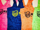 RISK365 APPAREL Ladies Burnout Racerback Tank