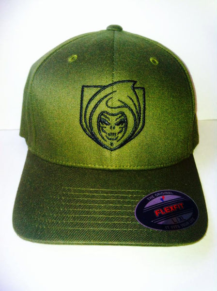 RISK365 APPAREL Operator Green Flexfit Fitted Hat