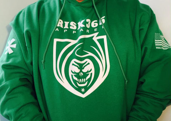 RISK365 APPAREL Reaper Platoon Green Squad Hoodie