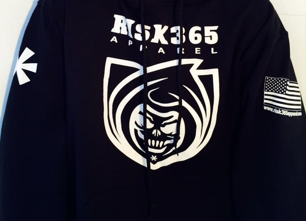 RISK365 APPAREL Reaper Platoon Black Squad Hoodie