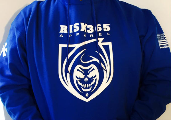 RISK365 APPAREL Reaper Platoon Blue Squad Hoodie