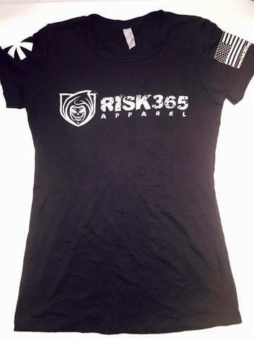 RISK365 APPAREL Black Squad Ladies Tee