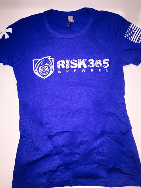 RISK365 APPAREL Blue Squad Ladies Tee