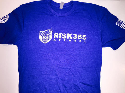 RISK365 APPAREL Blue Squad Mens Tee