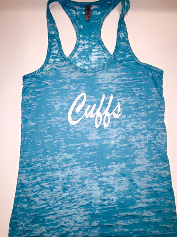 """Cuffs"" Ladies Racerback Tank"