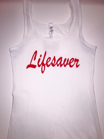 """Lifesaver"" Ladies Tri-Blend Tank"