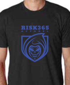 RISK365 APPAREL Thin Blue Line Mens Full Frontal T-Shirt