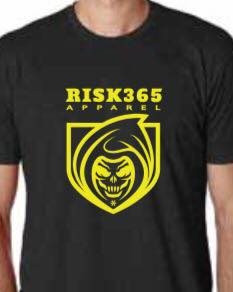 RISK365 APPAREL Thin Yellow Line Mens Full Frontal T-Shirt