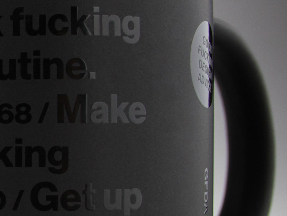 Good Fucking Design Advice GFDA Advice Mug