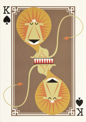 I Ended Up Here Greeting Card: King of Spades