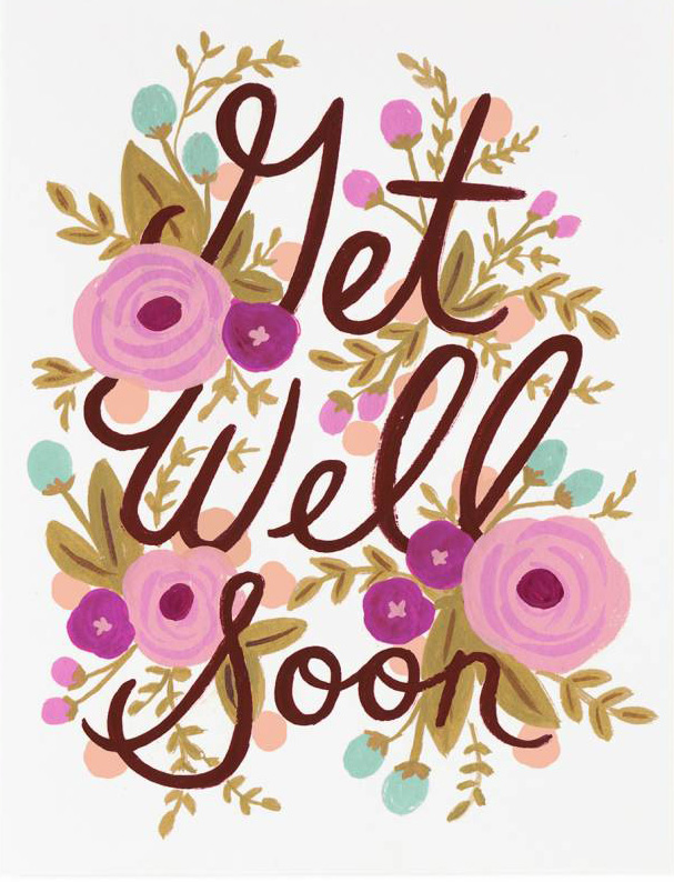 Rifle Paper Co. Greeting Card: Get Well Soon