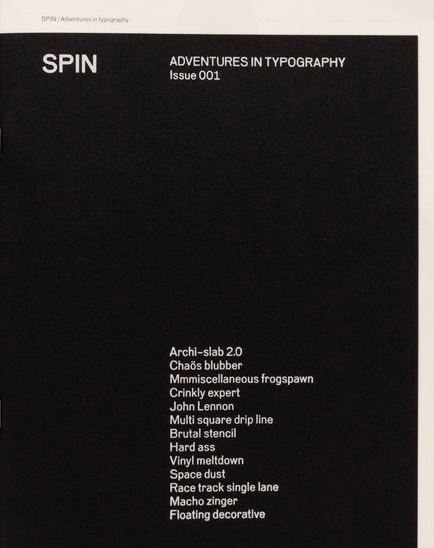 SPIN/Adventures in Typography