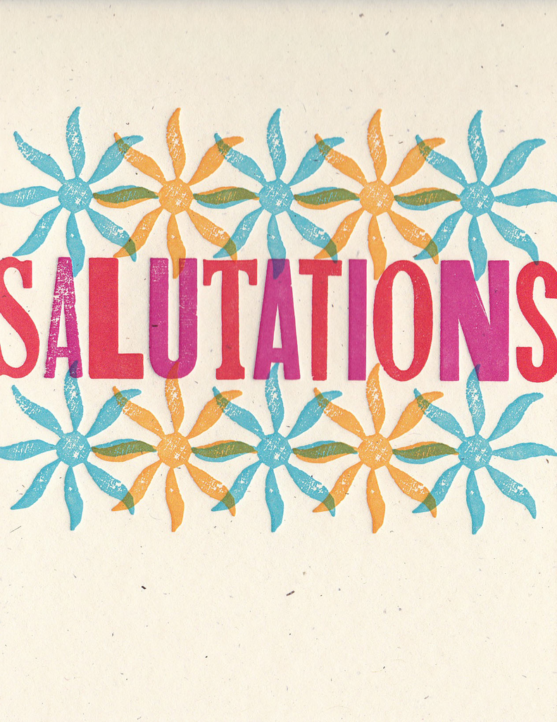 Wood Type Greeting Card: Salutations