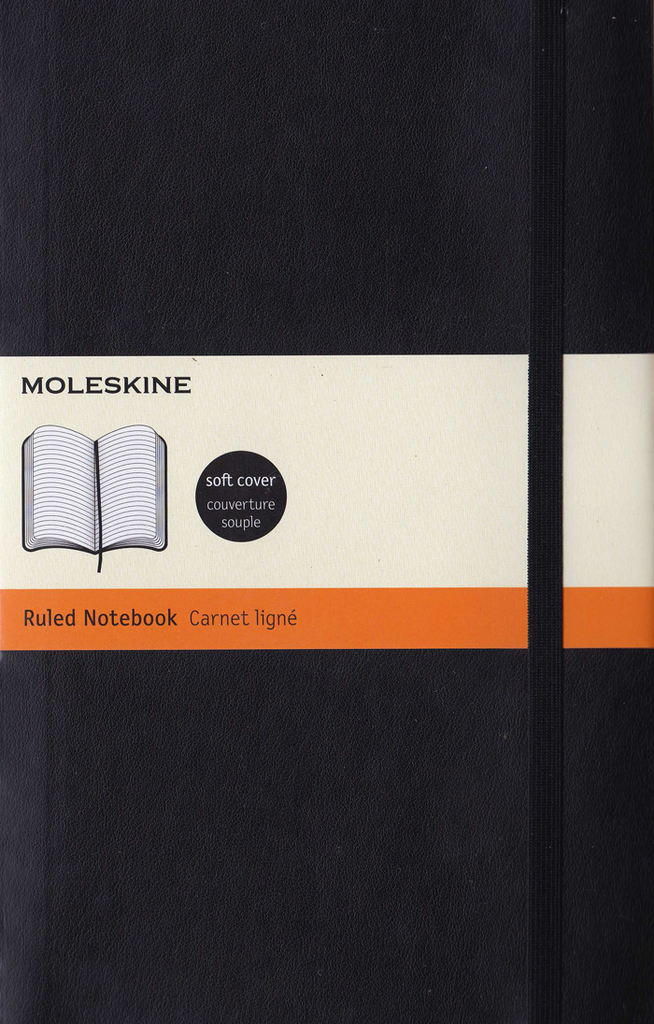 Moleskine Classic Soft Cover Notebook: Large: Ruled: Black