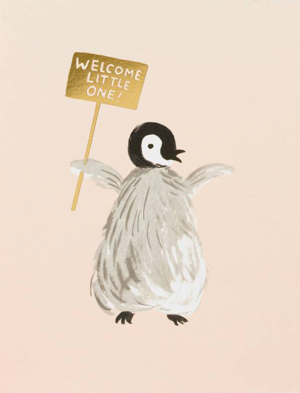 Rifle Paper Co. Greeting Card: Welcome Penguin