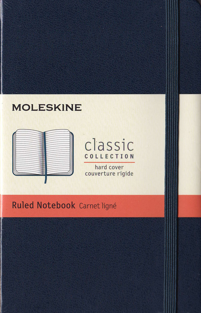 Moleskine Classic Hard Cover Notebook: Pocket: Ruled: Sapphire Blue