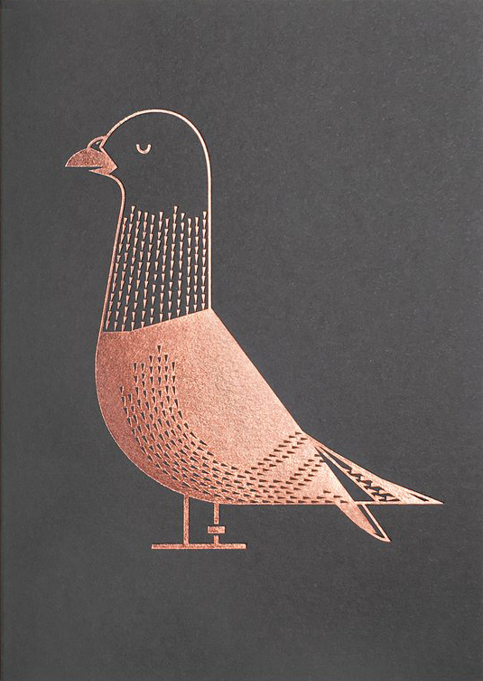 I Ended Up Here Greeting Card: Pigeon (Foil)