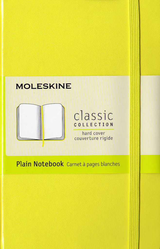 Moleskine Classic Hard Cover Notebook: Pocket: Plain: Citron Yellow