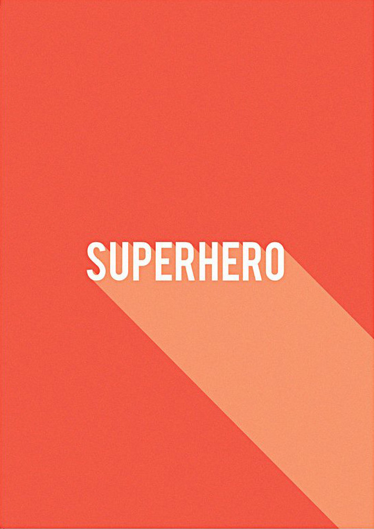 I Ended Up Here Greeting Card: Type Superhero