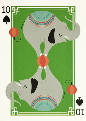 I Ended Up Here Greeting Card: 10 Of Spades