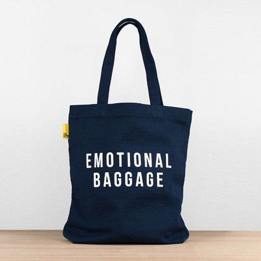 The School of Life: Emotional Baggage TOTE Bag (Navy)