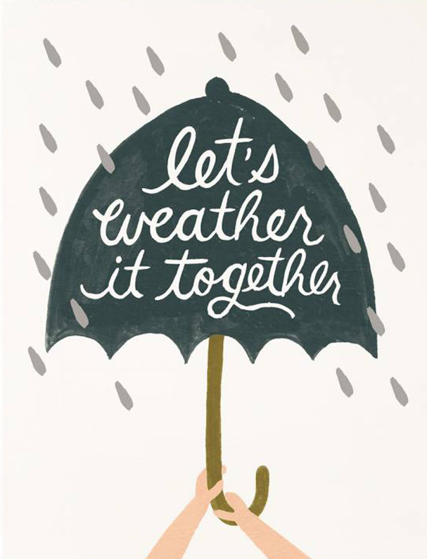 Rifle Paper Co. Greeting Card: Weather It Together
