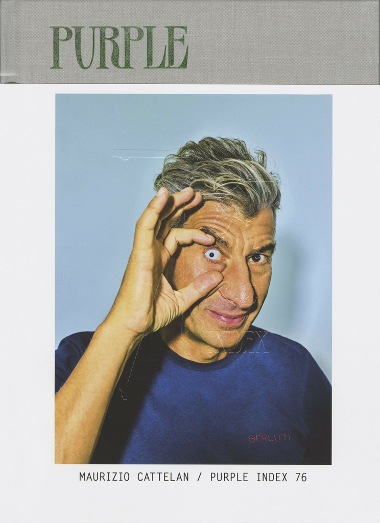 Purple Issue 29 S/S 'Index 76' Maurizio Cattelan (Cover 1)