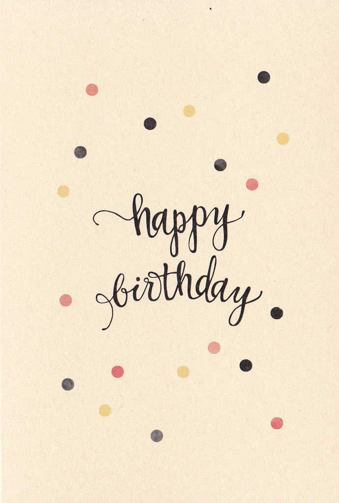 An April Idea Greeting Card: Happy Birthday Dots