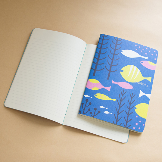 Scandinavian Design Notebook by Yurio Seki: Sea Ruled