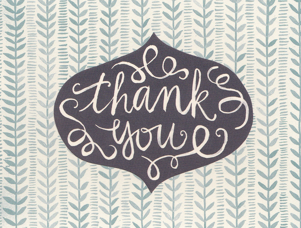 One Canoe Two Greeting Card: Thank You Ornament
