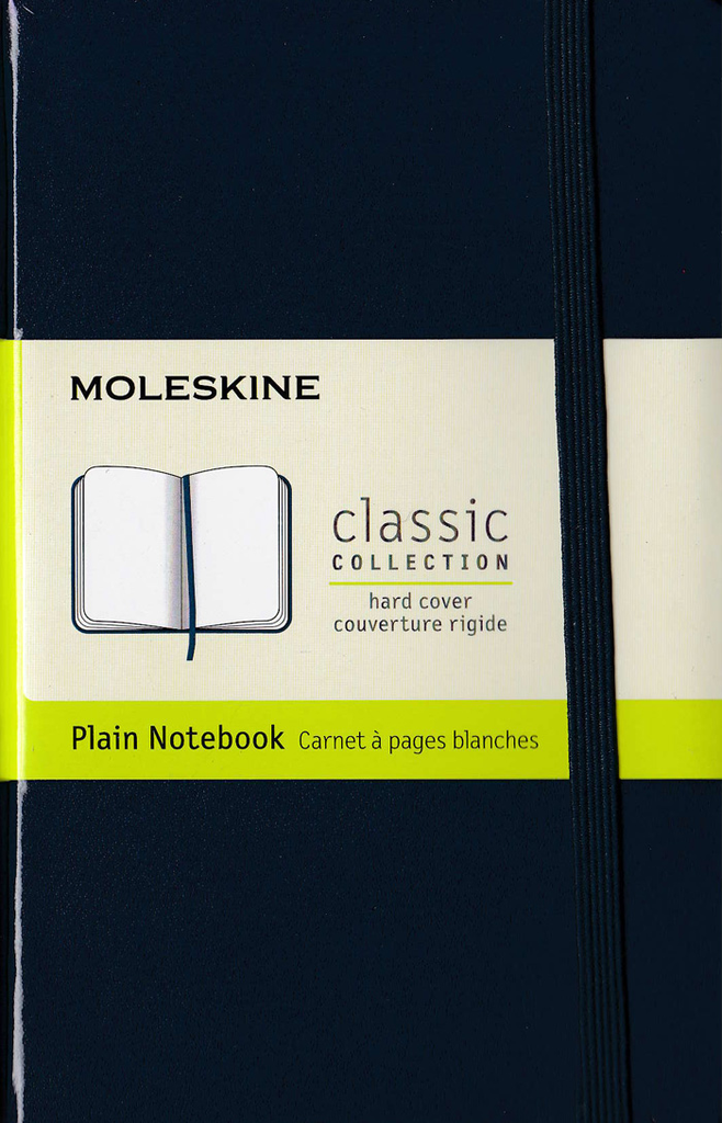 Moleskine Classic Hard Cover Notebook: Pocket: Plain: Sapphire Blue