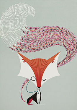 i Ended Up Here Poster: Colour Fox