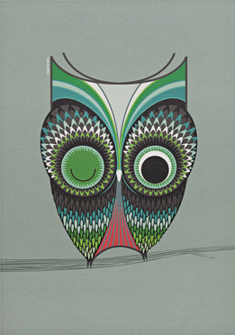 I Ended Up Here Poster: Colour Owl