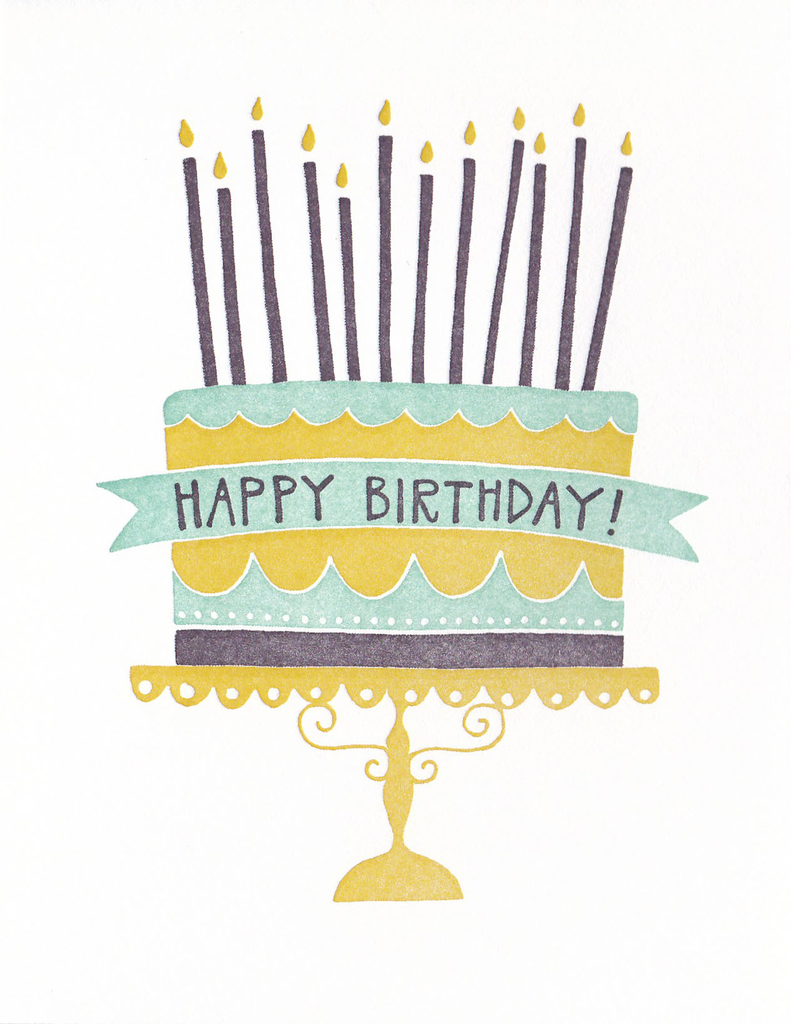 One Canoe Two Greeting Card: Happy Birthday Cake