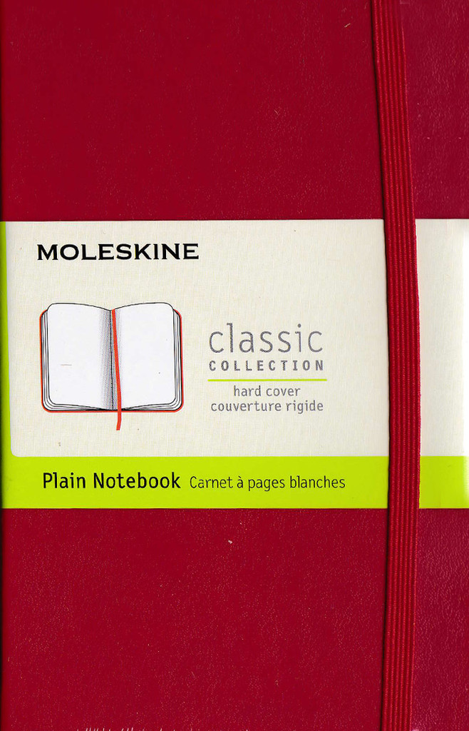 Moleskine Classic Hard Cover Notebook: Pocket: Plain: Red