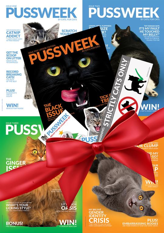 PUSSWEEK Magazine Super Mega Deluxe Meowy Catmas 5 pack
